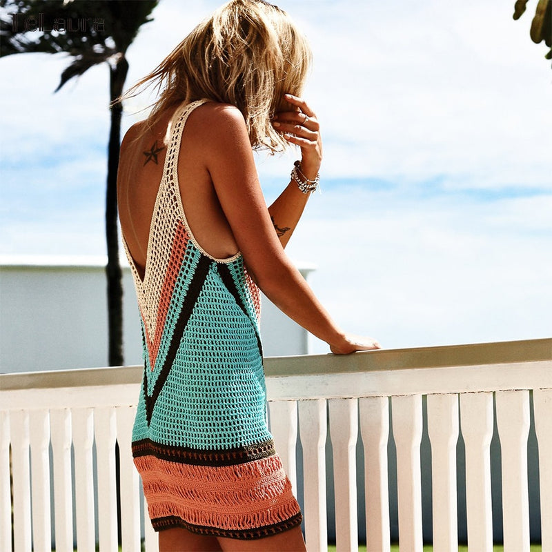 Los Cabos Crochet Cover Up Beach Dress