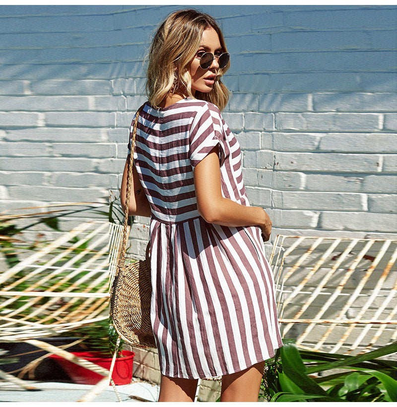 California Striped Dress