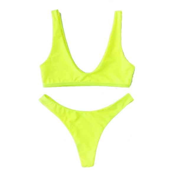 Coachella Neon Green Bikini Set