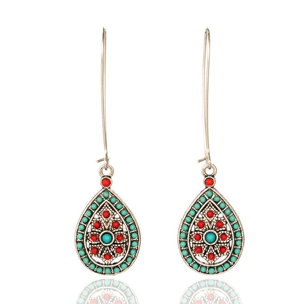 Ethnic Water Drip Earrings