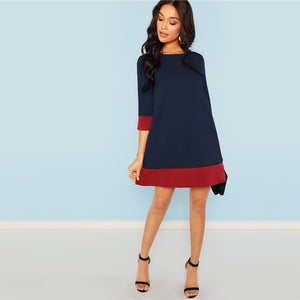 Valencia Navy Elegant Dress