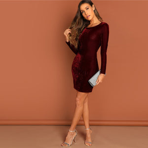 Sotogrande Burgundy Velvet Dress