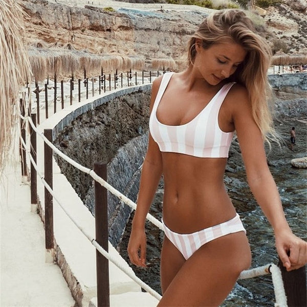 Iconic Madeira Striped Bikini Set