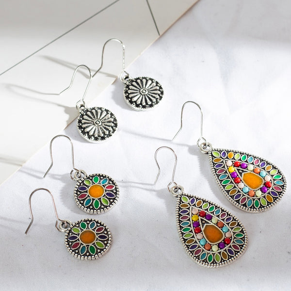 Multiple 3 Pairs Vintage Earrings Set