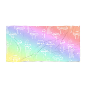 Pastel Shrooms Beach Towel
