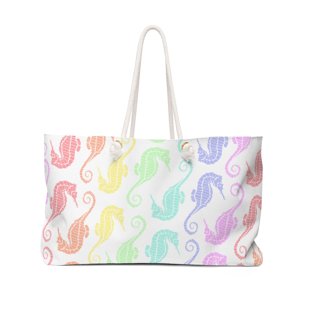 Seahorses Pastel Rainbow Beach Bag