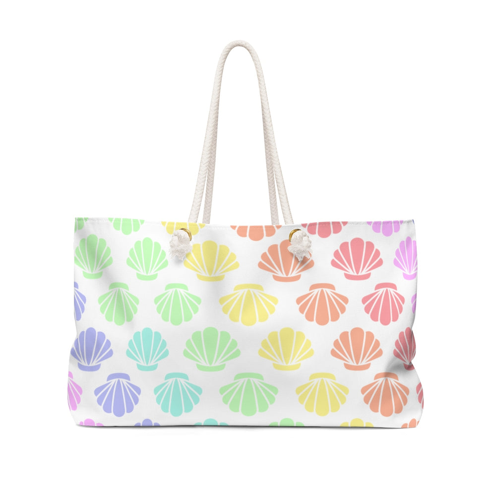 Seashells Pastel Rainbow Beach Bag
