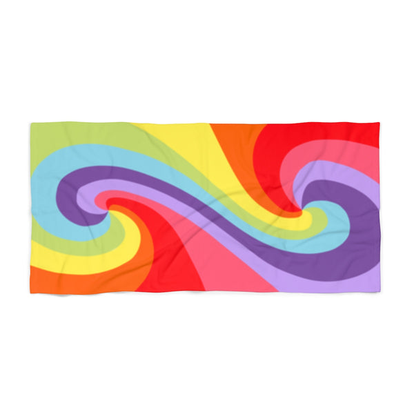 Color Tao Vibrant Rainbow Beach Towel