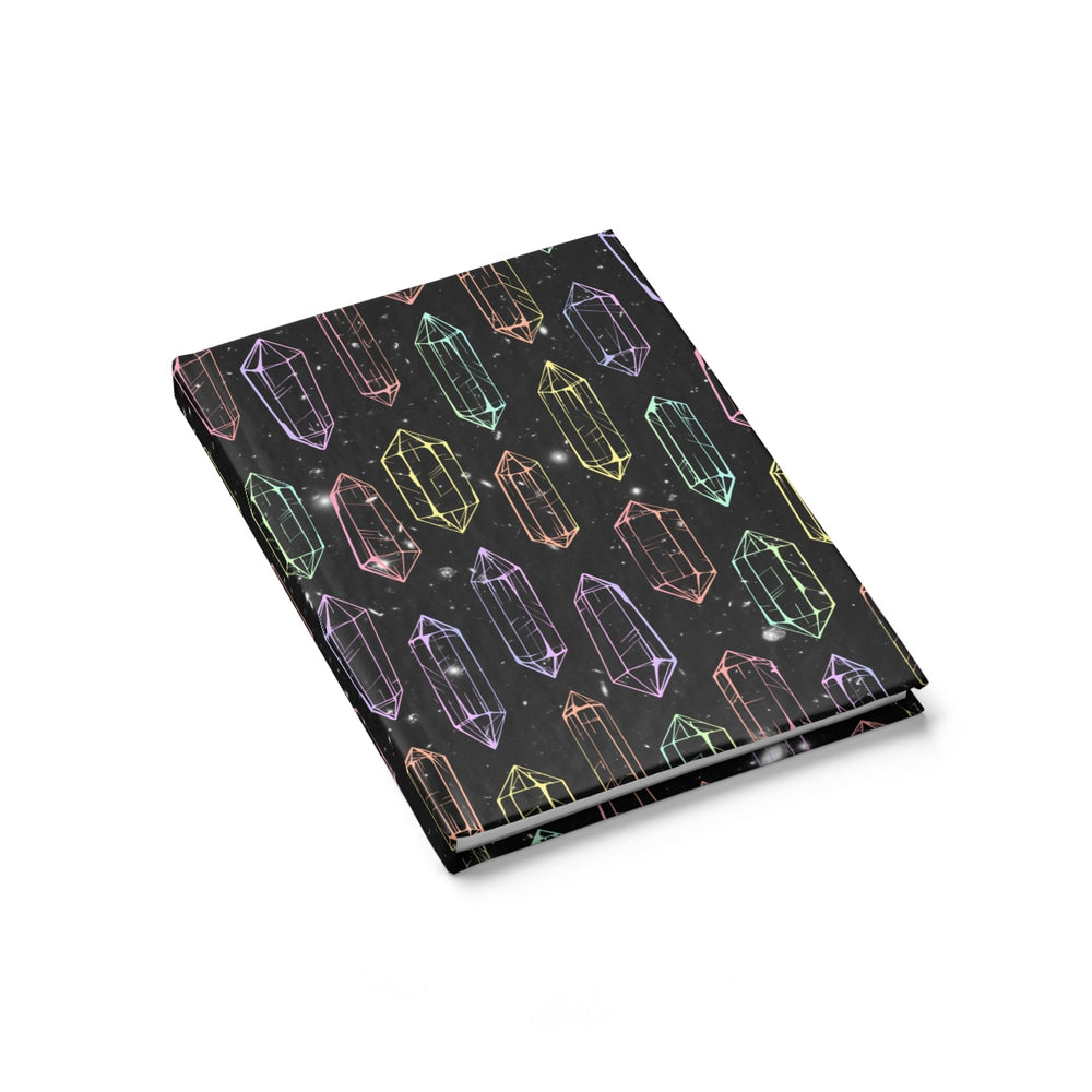 visionary-aesthetic - Crystal Galaxies (Outlines) Journal - Printify - Paper products