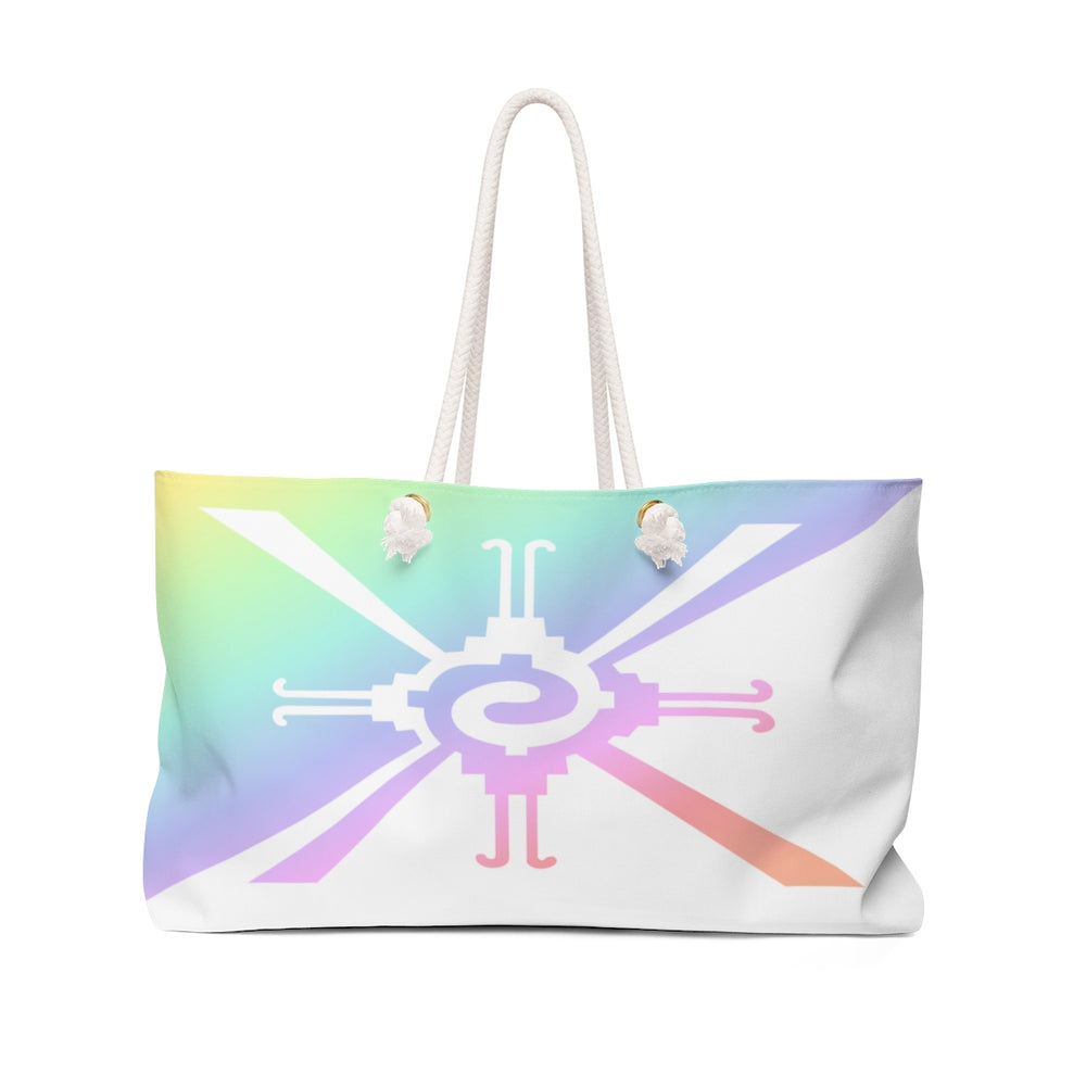 Hunab Ku Pastel Rainbow Beach Bag