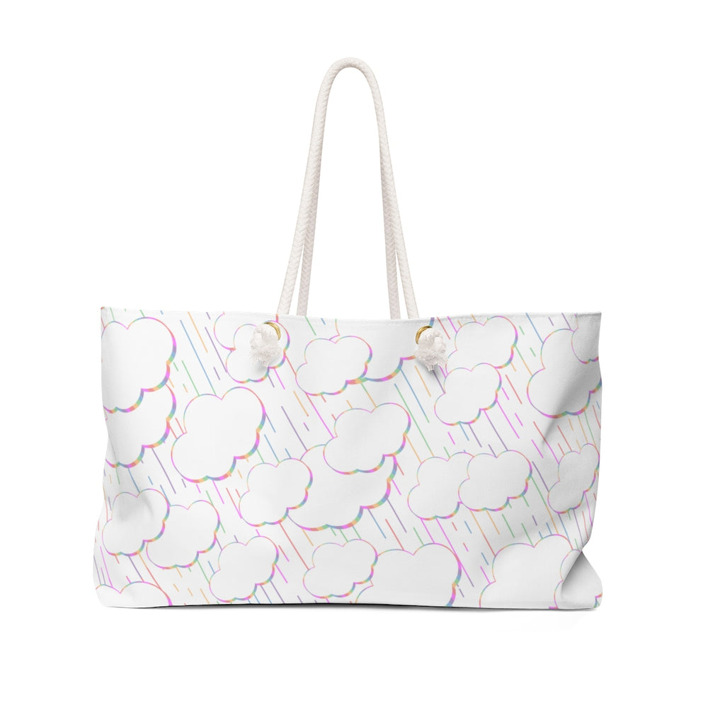 Rainbow Rainclouds Beach Bag
