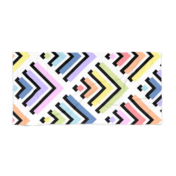 Labyrinth Pastel Rainbow Beach Towel