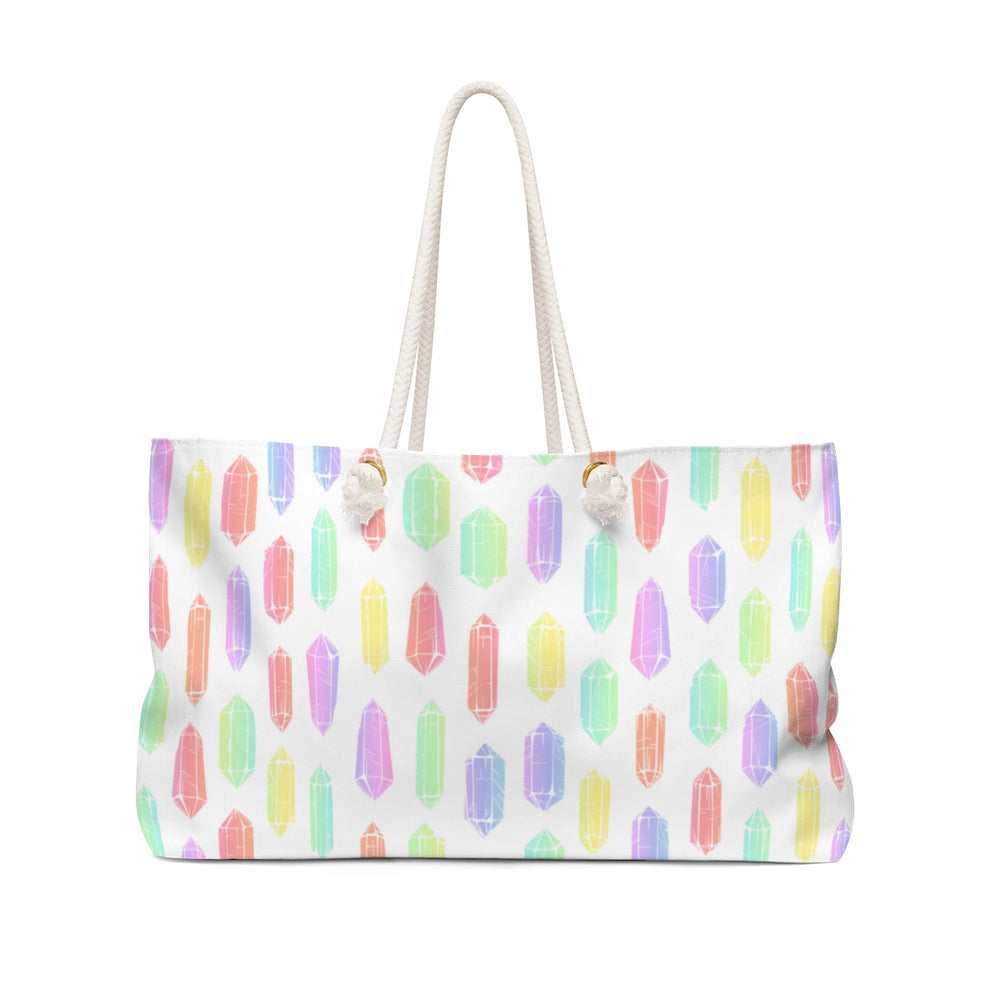 Watercolor Crystals Beach Bag