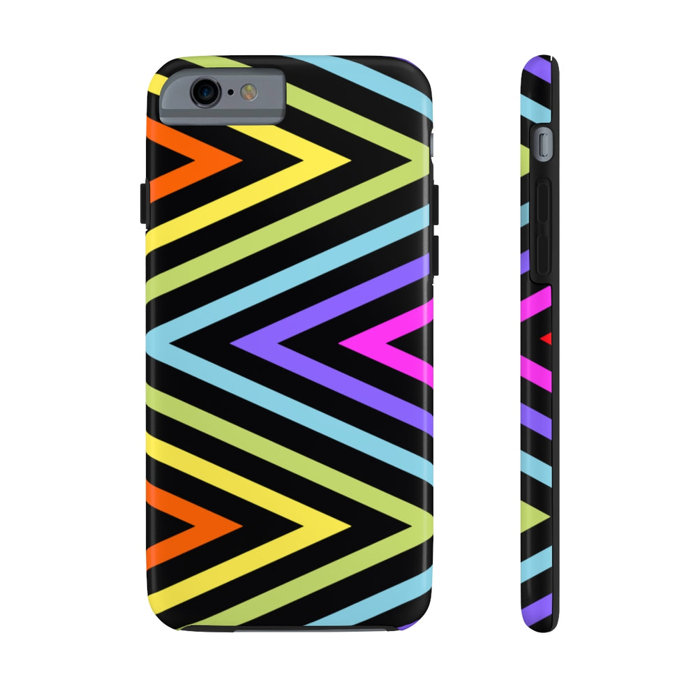 Black Meander Rainbow Case Mate Tough Phone Case