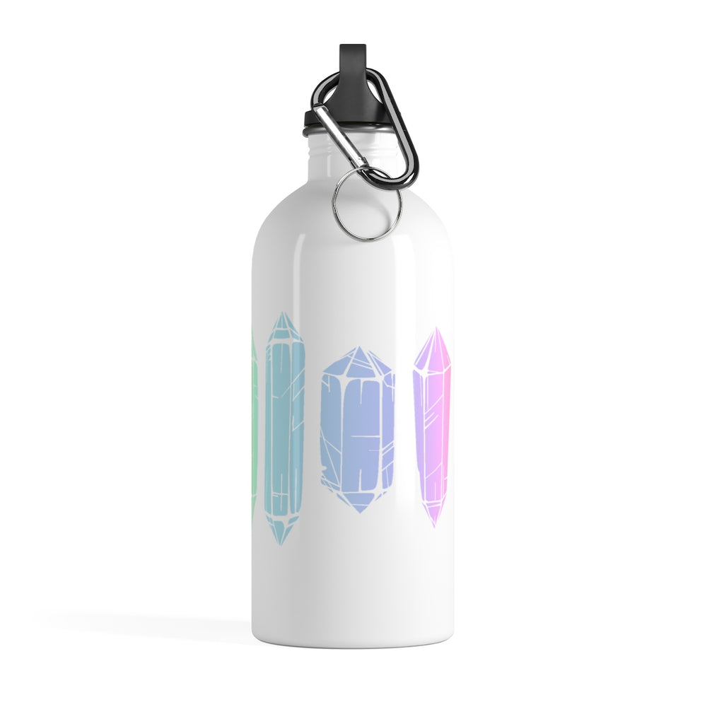 Watercolor Crystals Stainless Steel Water Bottle