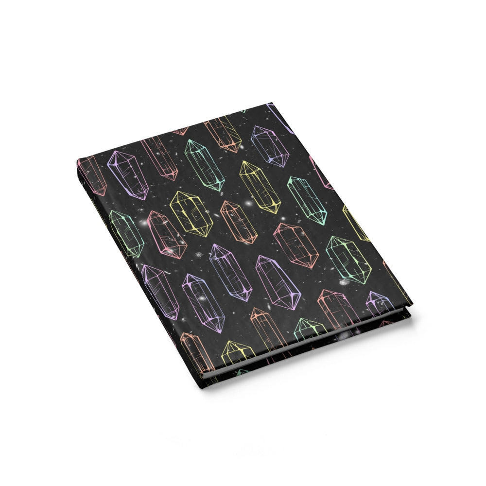 visionary-aesthetic - Crystal Galaxies (Outline) Sketchbook - Printify - Paper products