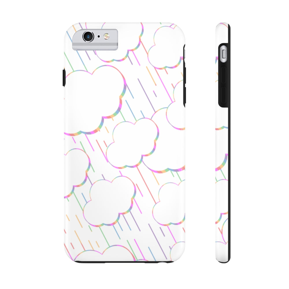 Rainbow Rainclouds White Case Mate Tough Phone Case