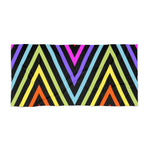 Black Meander Rainbow Beach Towel