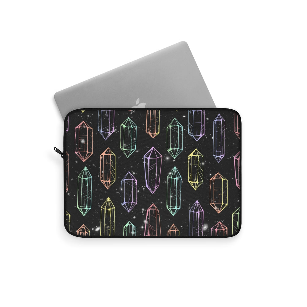 Crystal Galaxies (Outline) Laptop Sleeve