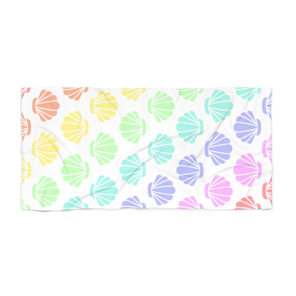 Seashells Pastel Rainbow Beach Towel