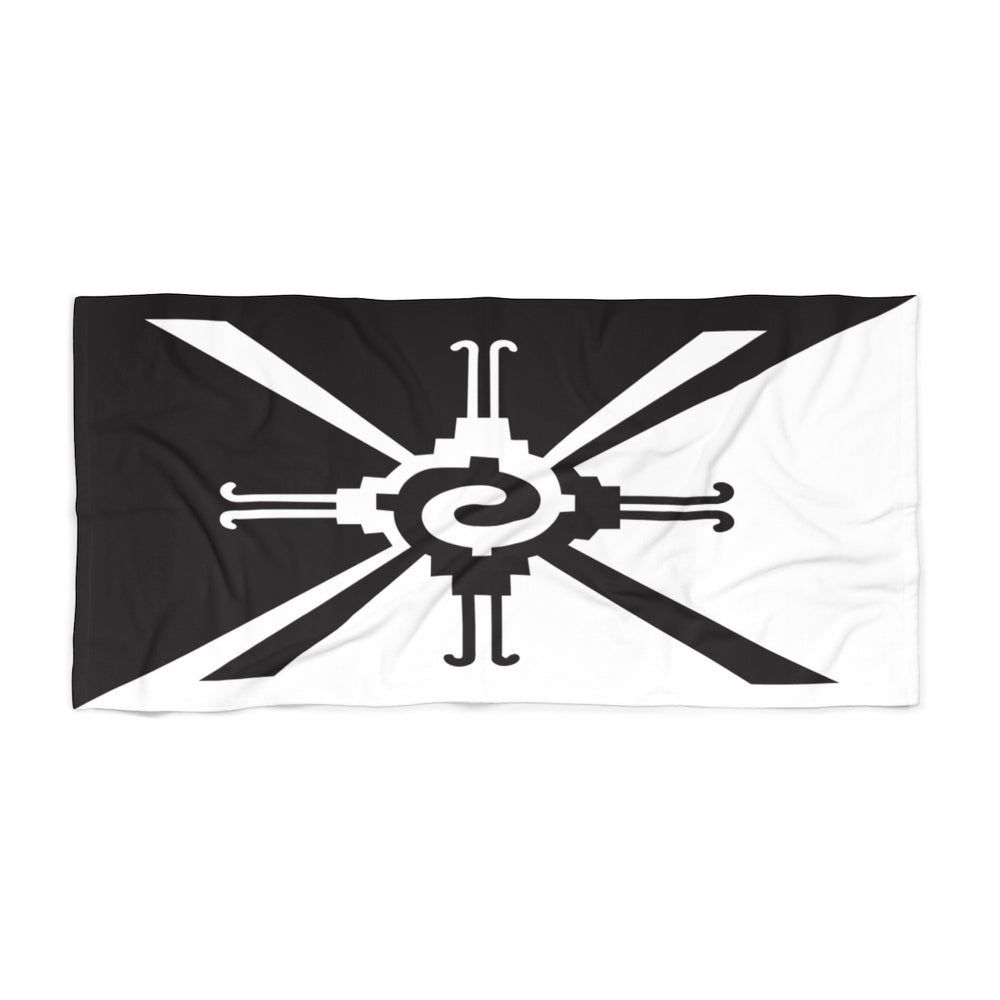 Hunab Ku Black & White Beach Towel