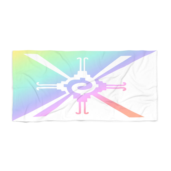 Pastel Rainbow Hunab Ku Beach Towel
