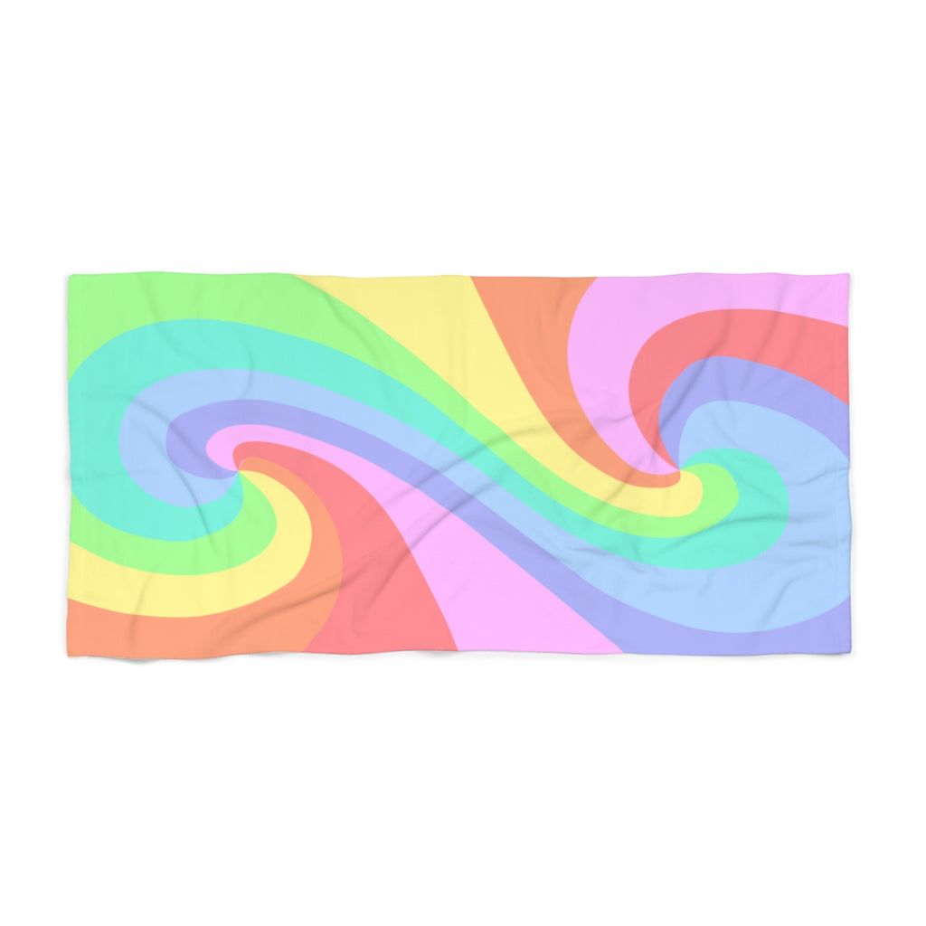 Pastel Color Tao Rainbow Beach Towel