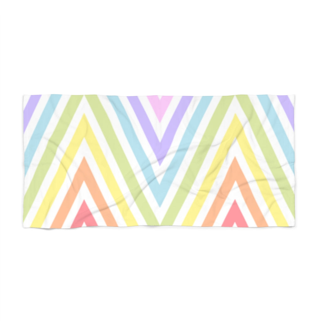 Pastel Rainbow Meander Beach Towel