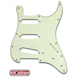 Allparts SSS Pickguard 11-Hole 3-Ply Mint Green - Downtown Music Sydney