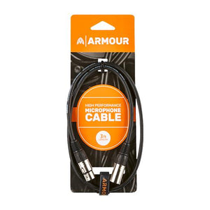 Armour CCP3 HP XLR-XLR Microphone Cable - 3ft