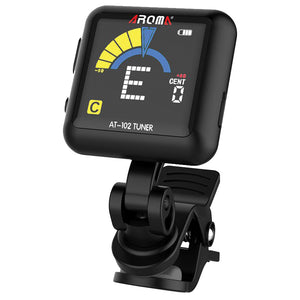 Aroma AT102BK Rechargeable Clip-On Chromatic Tuner - Black - Downtown Music Sydney