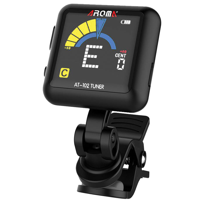 Aroma AT102BK Rechargeable Clip-On Chromatic Tuner - Black