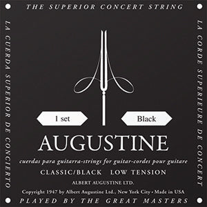 Augustine Classic Black Low Tension Nylon Strings - Downtown Music Sydney