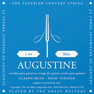 Augustine Classic Blue High Tension Nylon Strings - Downtown Music Sydney