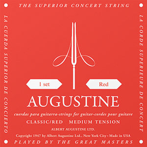 Augustine Classic Red Medium Tension Nylon Strings - Downtown Music Sydney