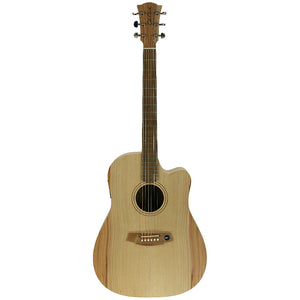 Cole Clark FL1EC-BM Fat Lady 1 Bunya/Maple Acoustic/Electric Guitar - Downtown Music Sydney