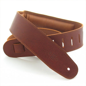 "DSL GEG 2.5"" Padded Garment Leather Guitar Strap - Maroon/Brown"