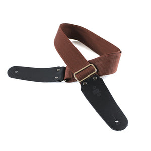 DSL 50POLY Polypropylene Guitar Strap - Brown - Downtown Music Sydney