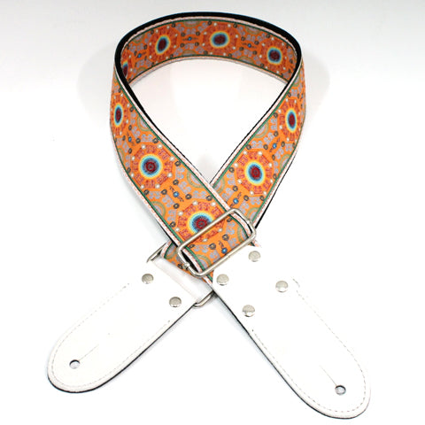 DSL JAC20 Jacquard Weaving Guitar Strap - SAL-ORANGE