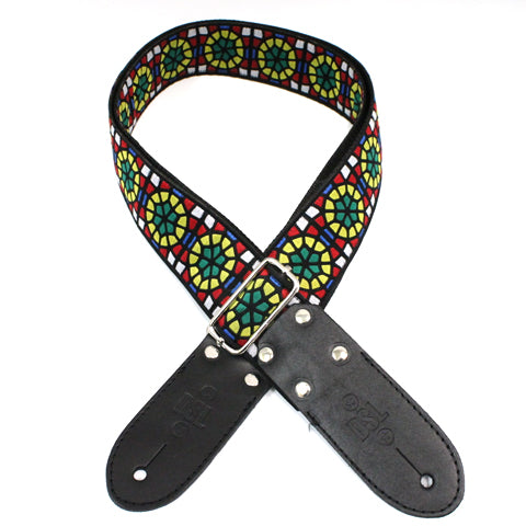 DSL JAC20 Jacquard Weaving Guitar Strap - SG-GREEN
