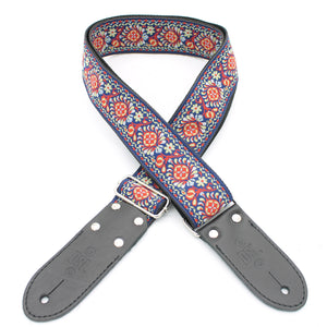 DSL JAC20 Jacquard Weaving Guitar Strap - TUK-RED - Downtown Music Sydney