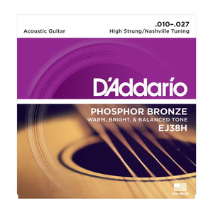 D'Addario EJ38H High Strung / Nashville Tuning Acoustic Guitar Strings (10-27) - Downtown Music Sydney