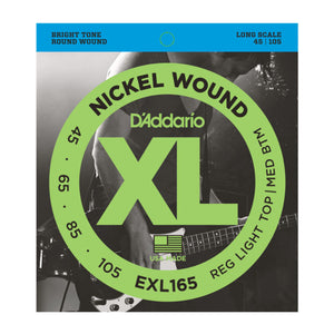 D'Addario EXL165 Custom Light Bass Strings (45-105) - Downtown Music Sydney