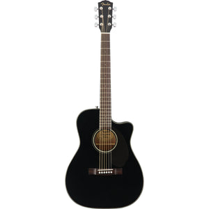 Fender CC-60SCE Acoustic/Electric Guitar - Black