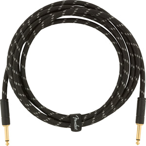 Fender Deluxe Series Instrument Cable - 10ft Black Tweed