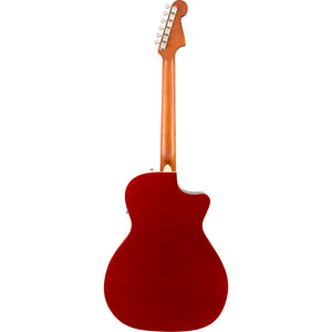 Fender Newporter Player Left Handed Acoustic/Electric - Candy Apple Red - Downtown Music Sydney