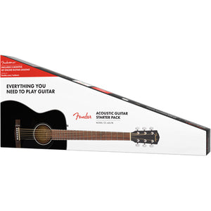 Fender CC-60S Concert Acoustic Guitar Pack - Black - Downtown Music Sydney