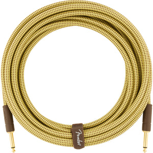 Fender Deluxe Series Instrument Cable Straight-Straight - 18.6ft Tweed - Downtown Music Sydney
