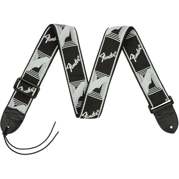 "Fender 2"" Monogrammed Guitar Strap - Black/Light Grey/Dark Grey"