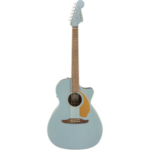 Fender Newporter Player Acoustic/Electric Guitar - Ice Blue Satin - Downtown Music Sydney